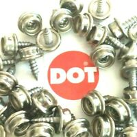 "50 DOT Snap Fastener #8 3/8"" Screw Stud 100% Stainless Steel Marine Grade - USA"