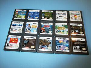 Lot of 15 Nintendo DS Lite DSi XL 3DS 2DS Games