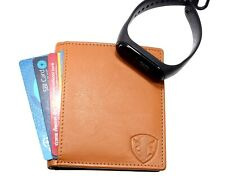Mens Leather Wallets Credit Card Holders Money Clippers RFID Blocking Men Women