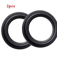 2pcs 6.5 inch Speaker Surround Foam Woofer Edge Home Audio Repair Parts Black