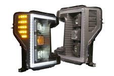 Morimoto Ford Super Duty 17-19 XB Hybrid LED Headlights Smoked DRL F250 F350