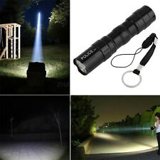 Waterproof Super Bright LED Flashlight Focus Torch Lamp With Hand Strap ZR