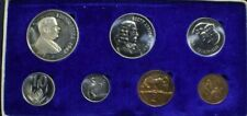 1967 South Africa Proof Set 7 Coins Some Toning Rainbow 1c Silver 1 Rand