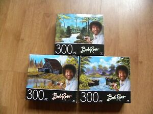 Bob Ross 300 Piece 14x11 Jigsaw Puzzles (3) by Cardinal  - NEW SEALED