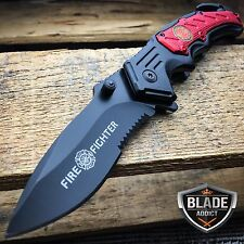 Fireman Fire Fighter Combat Rescue Spring Assisted OPEN Folding Pocket Knife NEW
