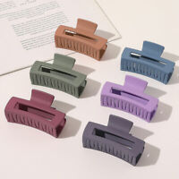 Women Large Hair Claw Acrylic Hair Clip Pure Color Square Hairpin Hair Accessory