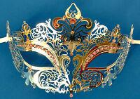 Masquerade Eye Mask Fleur De Lis Venetian Filigree Lace Renaissance Silver Pink