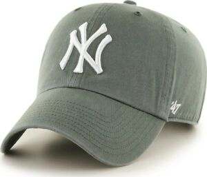 Forty Seven 47 Brand New York Yankees Moss Clean Up Curved Visor Strapback Cap