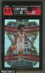 2019-20 Panini Select Silver Prizm Concourse #48 Coby White RC Rookie HGA 9.5