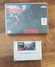 Super Castlevania IV 4 + repro box - Super Nintendo SNES - cleaned & tested
