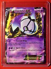 Pokemon card - Chandelure EX Holo B&W Legendary Treasures Edition Ed 77/113 =1st