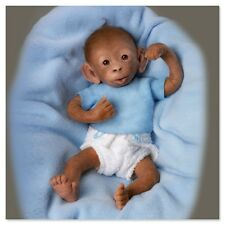 Ashton Drake - Bobo So Truly Real Baby Monkey Doll by Linda Murray
