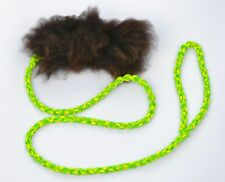 4 Foot Long Paracord and Sheepskin Tuggie Toy - Super furry, super soft.