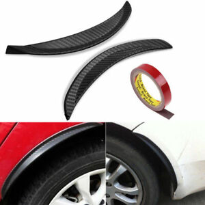 """2 Pieces 10"""" Carbon Texture Diffuser Fender Flares Lip For Toyota Wheel Wall"""