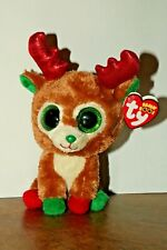 Ty Beanie Boo Reindeer named Alpine with Red Tag