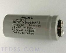 4 X Philips 14000uF 12V Large Can Electrolytic Capacitor 3186BC143U012AHA2