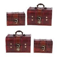 4Set Vintage Jewelry Box Home Small Thrinket Bracelet Storage Treasure Organizer