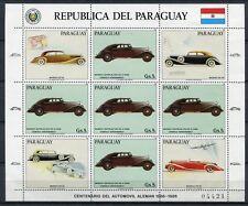 PARAGUAY 1986 Auto Oldtimer Cars Maybach 3993 Kleinbogen ** MNH