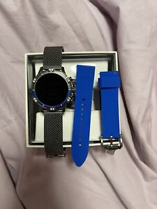Fossil Smart Watch 5th Gen 46mm + Free Stainless Steel Band & Extra Wi-Charger