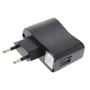 European USB plug Euro Europe EU 2 Pin 5V 1A USB Wall Plug Charger Black