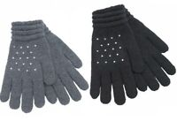 Ladies Winter Warm Thermal Insulated Gloves Foxbury Gloves With Diamantes UK