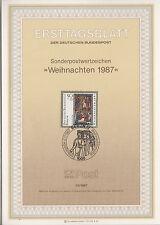TIMBRE FDC ALLEMAGNE  BERLIN OBL ERSTTAGSBLATT NOEL PAUSTIER BRITANIQUE  1987