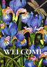 Toland Iris And Dragonfly 12.5 x 18 Flowers Plants Welcome Garden Flag