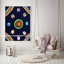 INDIAN WALL HANGING TAPESTRY MANDALA HIPPIE TAPESTRIES BOHEMIAN BLUE THROW DECOR