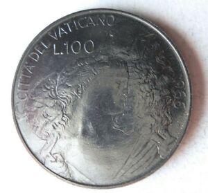 1966 VATICAN CITY 100 LIRE - AU/UNC - Low Mintage Coin - Lot #S19