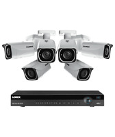 Lorex 8 channel NR9082 4K home security system with 6 8MP 4K LNB8111B Bullet ...