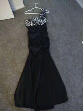 long black mermaid one shoulder dress with cheetah top