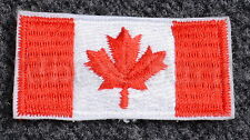 CANADIAN ARMY CANADA FLAG BADGE - RED & WHITE - NEW - 01LD