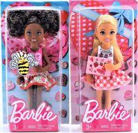 "Set of 2 Mattel Valentine Barbie Chelsea Dolls African American & Blonde 5.5"""