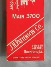 1940s Koppers Coke J. H. Patterson Co. Lumber and Fuel Rockford IL Winnebago Co