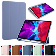 """for iPad Pro 11"""" / 12.9"""" 2020 Leather Protective Tablet Case Stand Folio Cover"""
