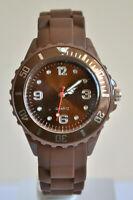 Montre Enfants Filles Garçons Bracelet Silicone Petit Watch Couleur MARRON