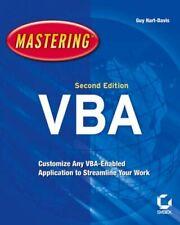 Mastering Microsoft VBA,Guy Hart-Davis