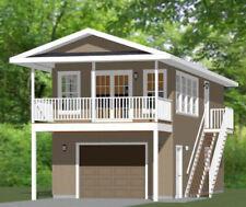16x36 House -- 1 Bedroom  -- PDF Floor Plan -- 744 sq ft -- Model 10B