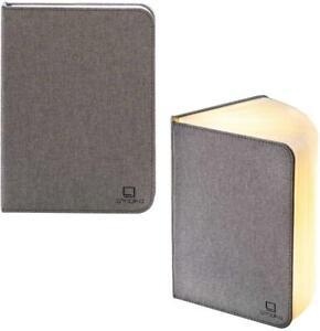 Gingko LED Light Smart Linen Book Work Office Desk Lamp USB Rechargeable