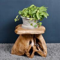 Stool Chair Cedar Wood Stump Unique Shape Table Stand WELLAND