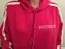 Unisex fitness hoody. strength lift hot pink  .