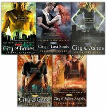 Mortal Instruments Serie Cassandra Clare Set Colección De 5 Libros