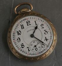 1923 Illinois 21 Jewel Railroad Pocket Watch Size 16 Mod 9 Bunn Special (22107)