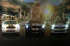 LED Bild Leinwand / Leuchtbild / Leinwandfoto / Wandbild / US CARS / AUTO