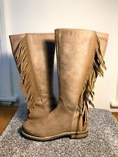 BUCKLE MY SHOE, childs size 11 leather knee high boots.