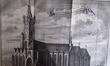 Cathédrale St CHRISTOPHE à RUREMONDE GRAVURE originale DELICES des PAYS BAS 1711