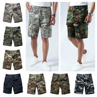 Mens Army BDU Shorts Summer Casual Camo Cargo Shorts for Camp, fishing, hunt
