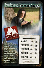 Professor Severus Snape Harry Potter - Order Of The Phoenix Top Trumps Card #C4