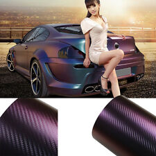 "8""x12"" Chameleon Carbon Fiber Vinyl Film Wrap Car Body Film Sticker Color Change"