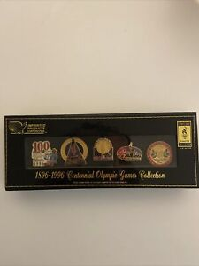 1996 Atlanta Olympic Games Collector's Lapel Pins Set of 5 Centennial NEW In Box